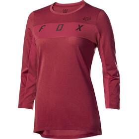 Fox Ranger Dr 3/4 Sleeve Jersey Women cardinal